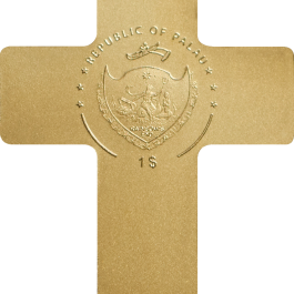 Palau 2018 Crucifix Gold Coin 0.5 g
