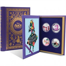 Niue 2018 Disney - Alice In Wonderland 65th Anniversary Colored Proof Silver Coin 4-Coin Set