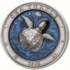 巴巴多斯 2018 海龜 彩色超高浮雕仿古銀幣3盎司_45367