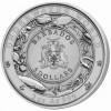 巴巴多斯 2018 海龜 彩色超高浮雕仿古銀幣3盎司_45369