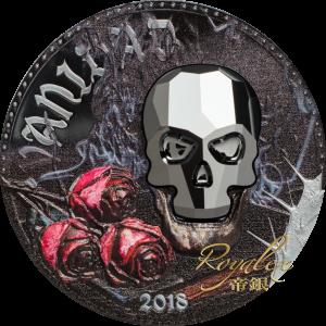 Equatorial Guinea 2018 Crystal Skull - Vanidad Crystal Proof Silver Coin 1oz_45278