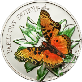 Cameroon 2011 Exotic Butterflies - Charaxes Fournierae Proof Silver 25 g