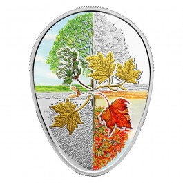 Canada 2018 Maple leaf: four seasons Egg Shaped Proof Silver Coin 31.82 g