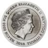 圖瓦盧2018 飛龍吐珠仿古銀幣5盎司_45179