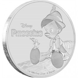 Niue 2018 Disney - Pinocchio Proof Silver Coin 1oz