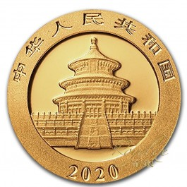 China 2020 Gold Panda 30 g