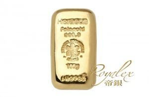 賀利士熔鑄金塊100克_45525