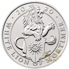 Great Britain 2020 Queen's Beast -The White Lion of Mortimer Cu-Ni Coin 28.28 g