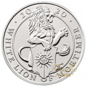 Great Britain 2020 Queen s Beast -The White Lion of Mortimer Cu-Ni Coin 28.28 g_45829