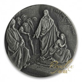 Niue 2019 Biblical Series – Cast the First Stone Silver Coin 2 oz