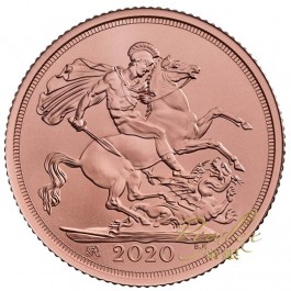 Great Britain 2020 Withdrawal From The Eu Strike On The Day Sovereign Proof Gold Coin 8g