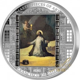 Cook Islands 2020 Masterpiece of Art - Goya - Christ in Gethsemane Easter Edition Proof Silver Coin 3oz