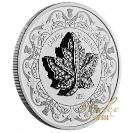 Canada 2020 Canadian Maple leaf Brooch Legacy Proof Silver Coin 2 oz