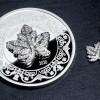 加拿大2020英女王楓葉襟針精鑄銀幣2 盎司_45765