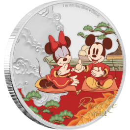 Niue 2020 Year of the Mouse – Longevity colored proof silver coin 1 oz