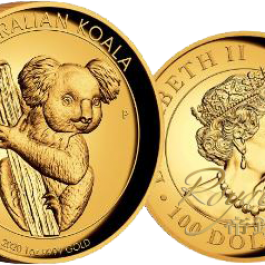 Australia 2020 Koala High Relief Proof Gold Coin 1 oz