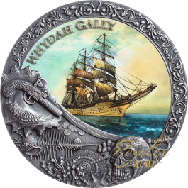 Niue 2019 Whydah Gally Antique Silver Coin 2 oz