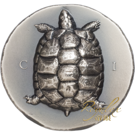 Cook Islands 2020 Tortoise Antique Silver Coin 1 oz