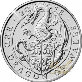 Great Britain 2018 Queen's Beast - The Red Dragon of Wales Cu-Ni Coin 28.28 g