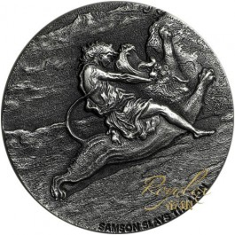 Niue 2019 Biblical Series – Samson Slays the Lion Silver Coin 2 oz