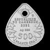 喀麥隆2021蜻蜓精鑄銀幣吊墜15克_46580