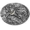 紐埃2021四大天王:持國天王 高浮雕仿古鍍金銀幣2盎司_46626