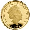 英國2021愛麗斯夢遊仙境 精鑄金幣1/4盎司_47074
