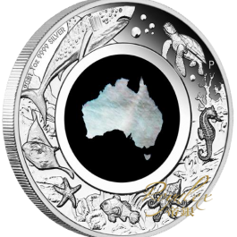 Australia 2021 Mother of Pearl – Great Southern Land Proof Silver Coin 1 oz