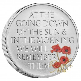 Great Britain 2021 The Remembrance Day Proof Silver Coin 28.28g